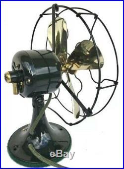 Antique, Vintage 1924 Ge Whiz Brass Blade Professionally Restored Fan Must See