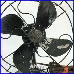 Antique Vintage 1930s GE Non-oscillating Fan Cat 19X257 Art Deco Tested & Works