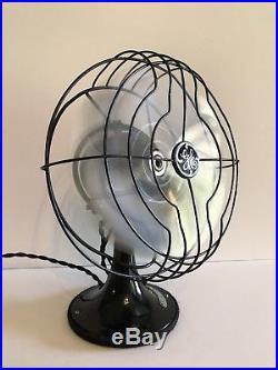 Antique Vintage 1934 GE 8 Quiet Blade General Electric Fan RESTORED