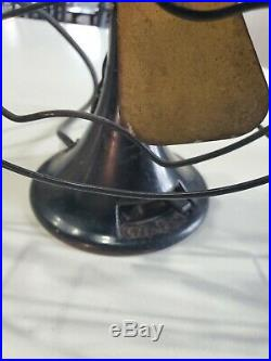 Antique Vintage 9 Emerson Northwind Desk Fan 444-a Ge Westinghouse Era - Vgc