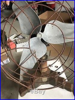 Antique Vintage Air Master Art Deco Giant Fan