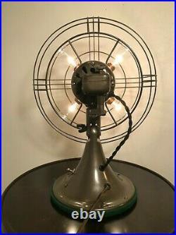 Antique Vintage Art Deco Retro Immaculate GE Vortalex Fan to Lamp Conversion