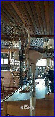 Antique Vintage Bakelite Pedestal Marelli Electric Fan