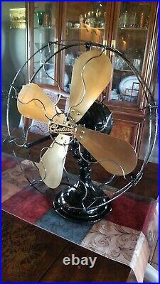 Antique Vintage Century 16 inch Brass Blade Electric Fan Restored