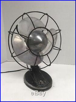 Antique Vintage Deco GE 55X164 Non-oscillating Electric Fan Works Nice! Bullet
