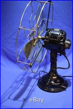 Antique Vintage Electric Brass Fan Century type S3