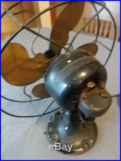 Antique Vintage Electric Fan 10 Emerson Jr Bullwinkle Style Blades Fan Works
