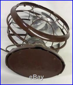 Antique Vintage Emerson 12 Silver Swan Electric Oscillating Fan Art Deco