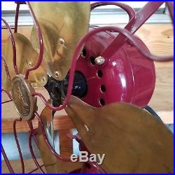 Antique Vintage Emerson 29646 Electric Brass Blade Fan CUSTOM RESTORED