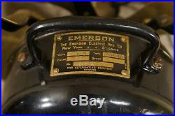 Antique Vintage Emerson Fan Brass Blades Type 26646