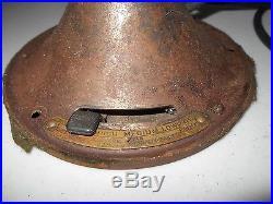 Antique Vintage GE 12 Brass Blade 3 Speed Type AOU Form AF2 Fan & Oscillator