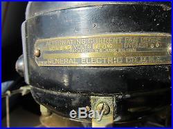 Antique-Vintage GE 12 Fan Big Motor Yoke 6 Brass Blades & Cage UNRESTORED