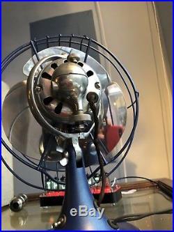 Antique Vintage GE Desk Fan 9 Quiet Blade Restored