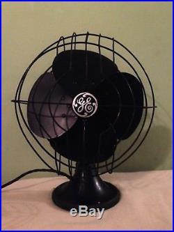 Antique Vintage GE General Electric 3 Speed Oscillator Desk Table Fan WORKS