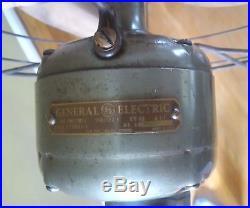 Antique Vintage General Electric Oscillating 12 Pedestal / Parlor FLOOR FAN