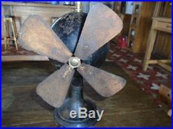 Antique Vintage German Mechanical Fan Spring Wound Fan not electric