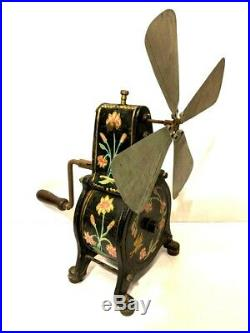 Antique Vintage German Mechanical Spring Wound Fan. Not electric