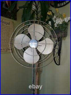 Antique Vintage Kenmore Standing 2 speed Floor Fan 30s 40s Art Deco