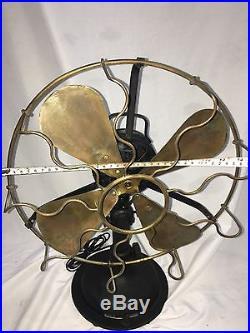 Antique Vintage Marelli HeavyBody Oscillating Italian Table Fan
