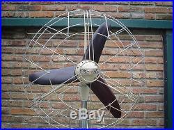 Antique Vintage Pedestal Marelli Electric Fan revised