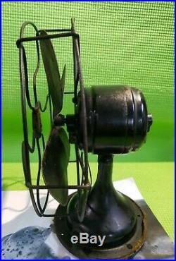 Antique Vintage Robbins&myers Electric Fan 8 List No 4100s Volts 60 Cyc. A. C