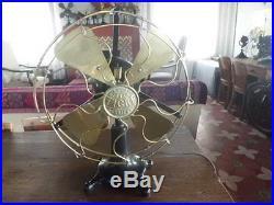 Antique Vintage Tigre Hurricane DC Electric Fan 12 inches