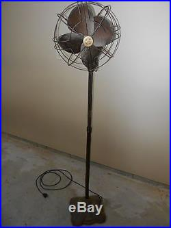 Antique Vintage Westinghouse Mid- Century Electric Fan Works Well Brass