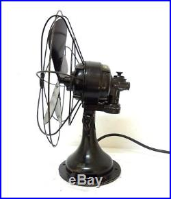 Antique Vintage Westinghouse Oscillating Fan 11´´ Cage & 14´´ Tall Working Serv
