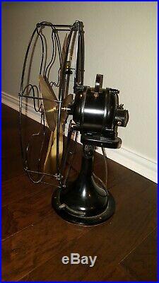 Antique Vintage brass blade fan Century S3C-16 model 263