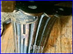 Antique Vtg 1900s Cast Iron Century 173 Ceiling Fan Original Blades works Hotel