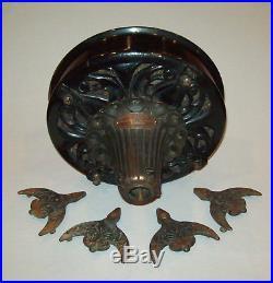 Antique Vtg Ca Jan 30 1900 Cast Iron Century Electric Co Ceiling Fan Very Fancy