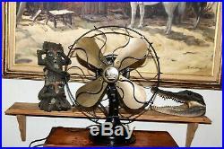 Antique Vtg Westinghouse Electric 3 Speed Fan 4 Brass Blades 12