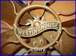 Antique WESTINGHOUSE 164864 B Brass BLADE 12 FAN Project/PARTS