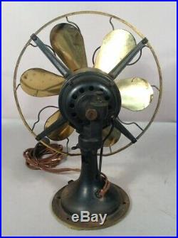 Antique WESTINGHOUSE General Electric SIX BLADE Table top Fan ALL 3 SPEEDS WORK