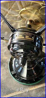 Antique Western Electric Fan 3 Speed Brass Restored Working 100 Years Original
