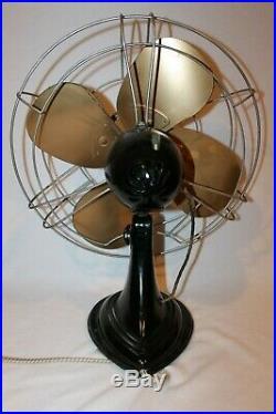 Antique Westinghouse 16 3 Speed Brass Blade Fan MODEL Nice! 16SD3
