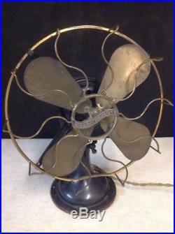 Antique Westinghouse 164848 B 12 Brass Fan Blade & Cage