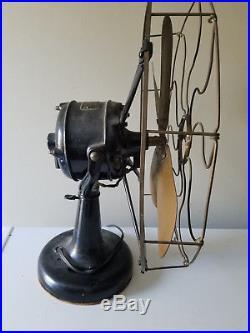 Antique Westinghouse 4 Brass Blade Tank Fan 16 Style No. 60679 Vtg USA HTF Rare