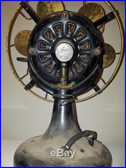 Antique Westinghouse 6 Brass Blade Fan USA Vtg List No. 18358 J HTF Rare Ex