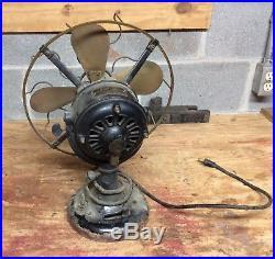 Antique Westinghouse 80421 Brass Tank Electric Fan Unrestored. 12. U. S. Made