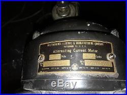 Antique Westinghouse Brass Blade Fan