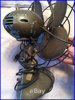 Antique Westinghouse Desktop Industrial Collectible Working Fan