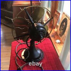 Antique Westinghouse Electric Fan 4 Brass Blades Works Original Restored. WOW