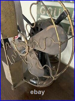 Antique Westinghouse Electric Fan Vane Oscillator 12 -Works
