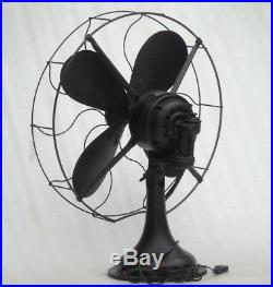 Antique Westinghouse Electric Mass. USA 17 inch Table Fan Interior Decoration