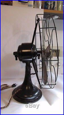 Antique Westinghouse Electric Table Fan Brass Blade Vintage 17 Cage 3 Speed