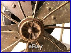 Antique Westinghouse Tesla Cage Fan 3856A Brass Blade Fancy Base All Original