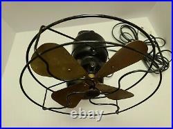 Antique Working 1927 Emerson'Northwind' 450 Cast Iron 3 Speed Oscillating Fan