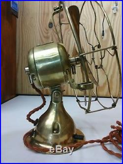 Antique early 1900's solid brass 8 Emerson Trojan