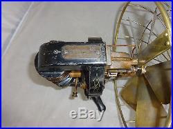 Antique edison fan nice original finish brass 6 blade model ca 1896